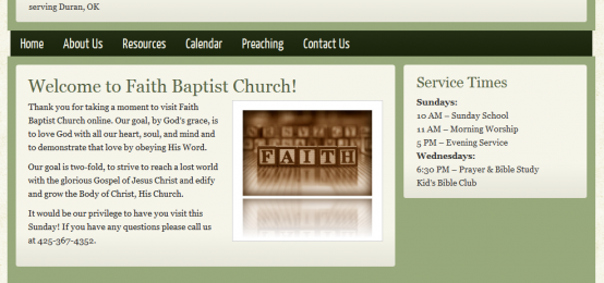 Green Church Theme